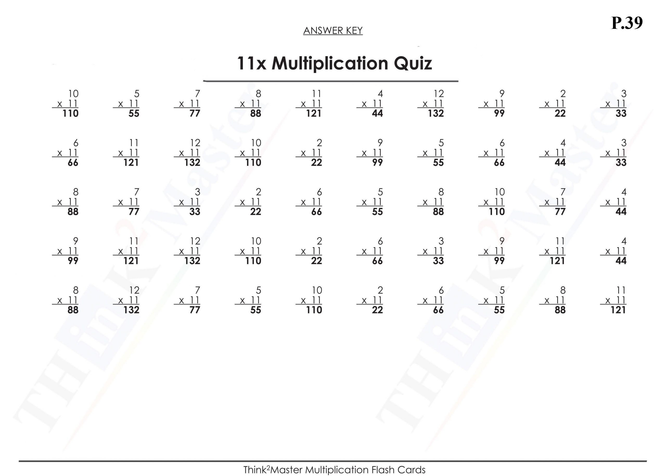Multiplication Vertical Worksheets Answer Key 8
