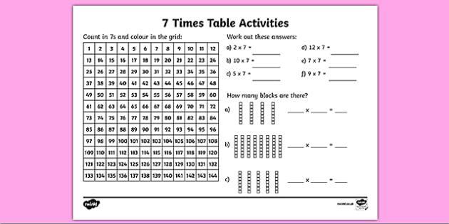 Multiplication Worksheets Grade 7