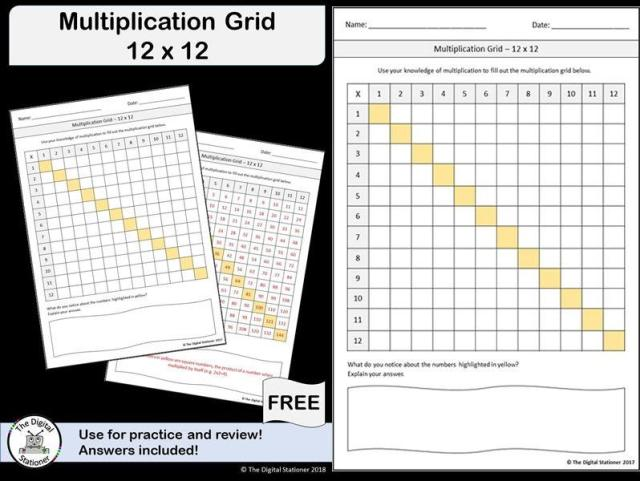 Multiplication Worksheets Up To 12×12 5