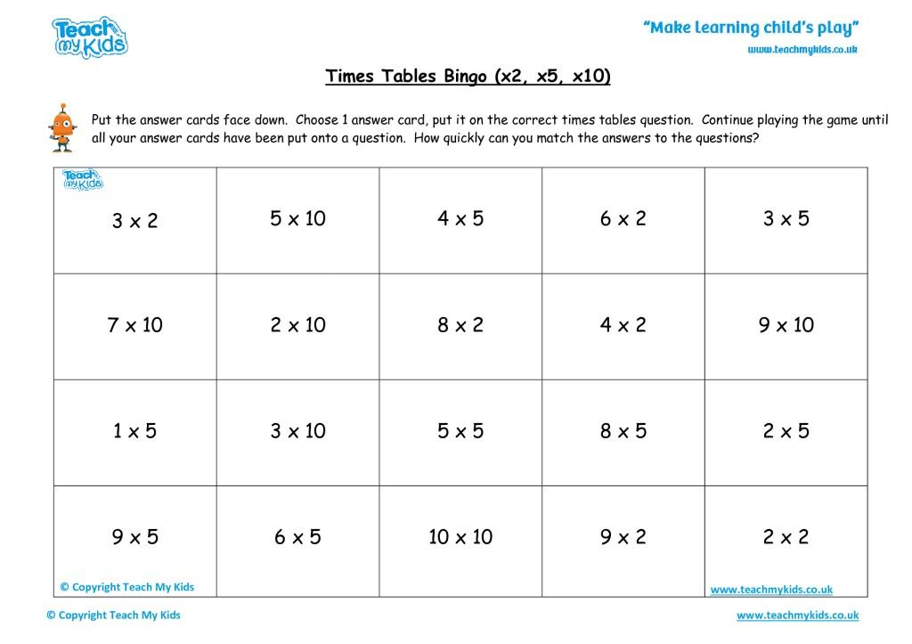 Multiplication Worksheets X5 3