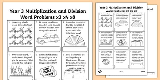 Multiplication Worksheets Year 3 Free