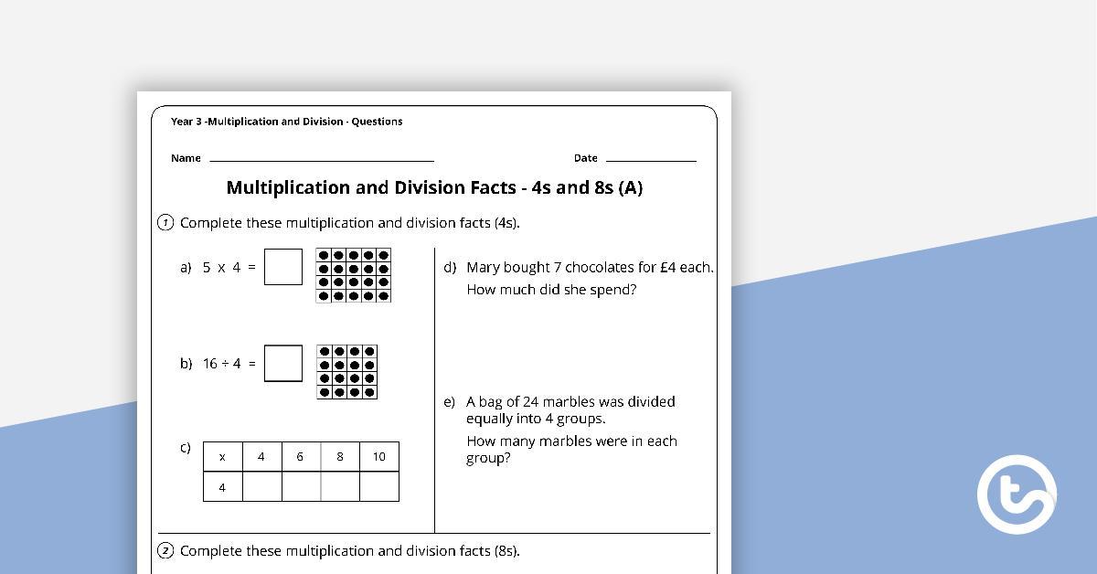 Multiplication Worksheets Year 3 Uk