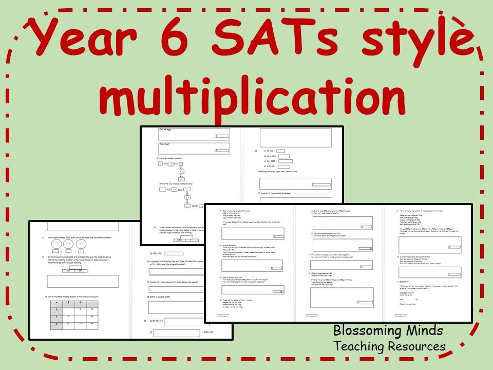 Multiplication Worksheets Year 6 1
