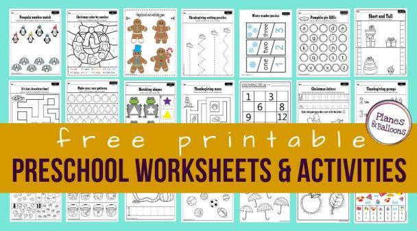 Preschool Worksheets Age 2-3 Pdf