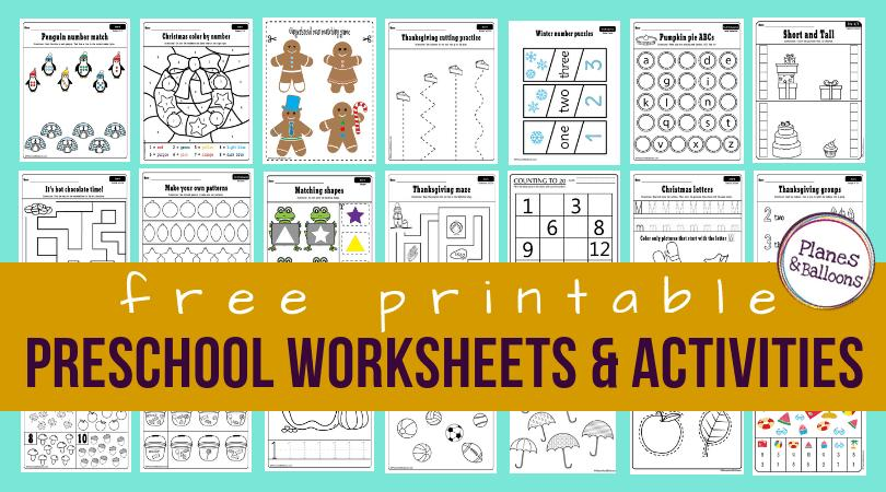 Preschool Worksheets Age 2-3 Pdf