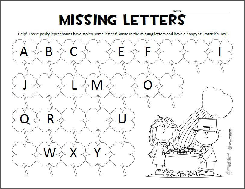 Preschool Worksheets Learning Letters