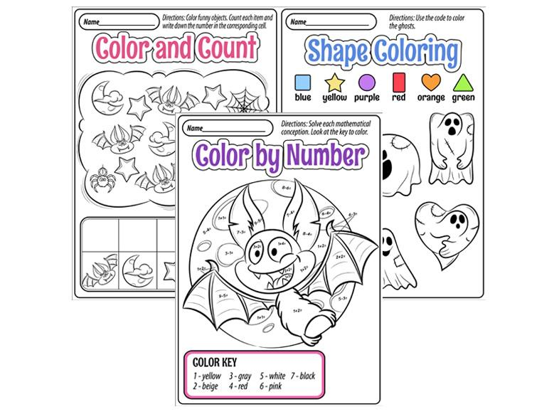 Fun Halloween Worksheets For Preschool