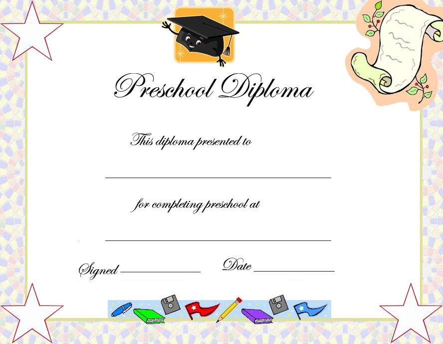 Graduation Worksheets For Preschool
