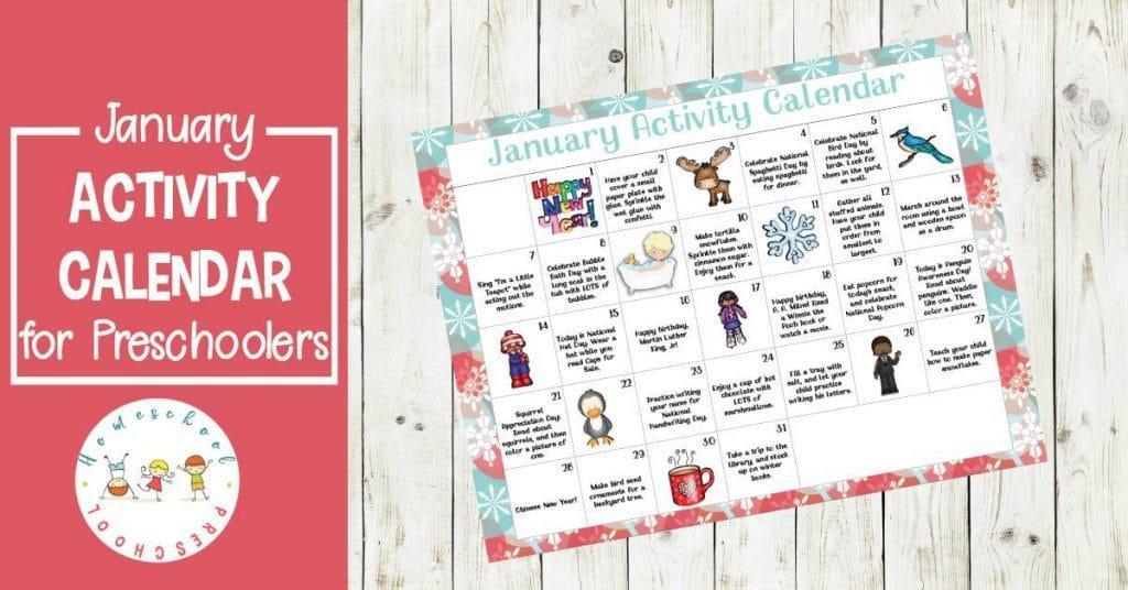 January Preschool Worksheets 6