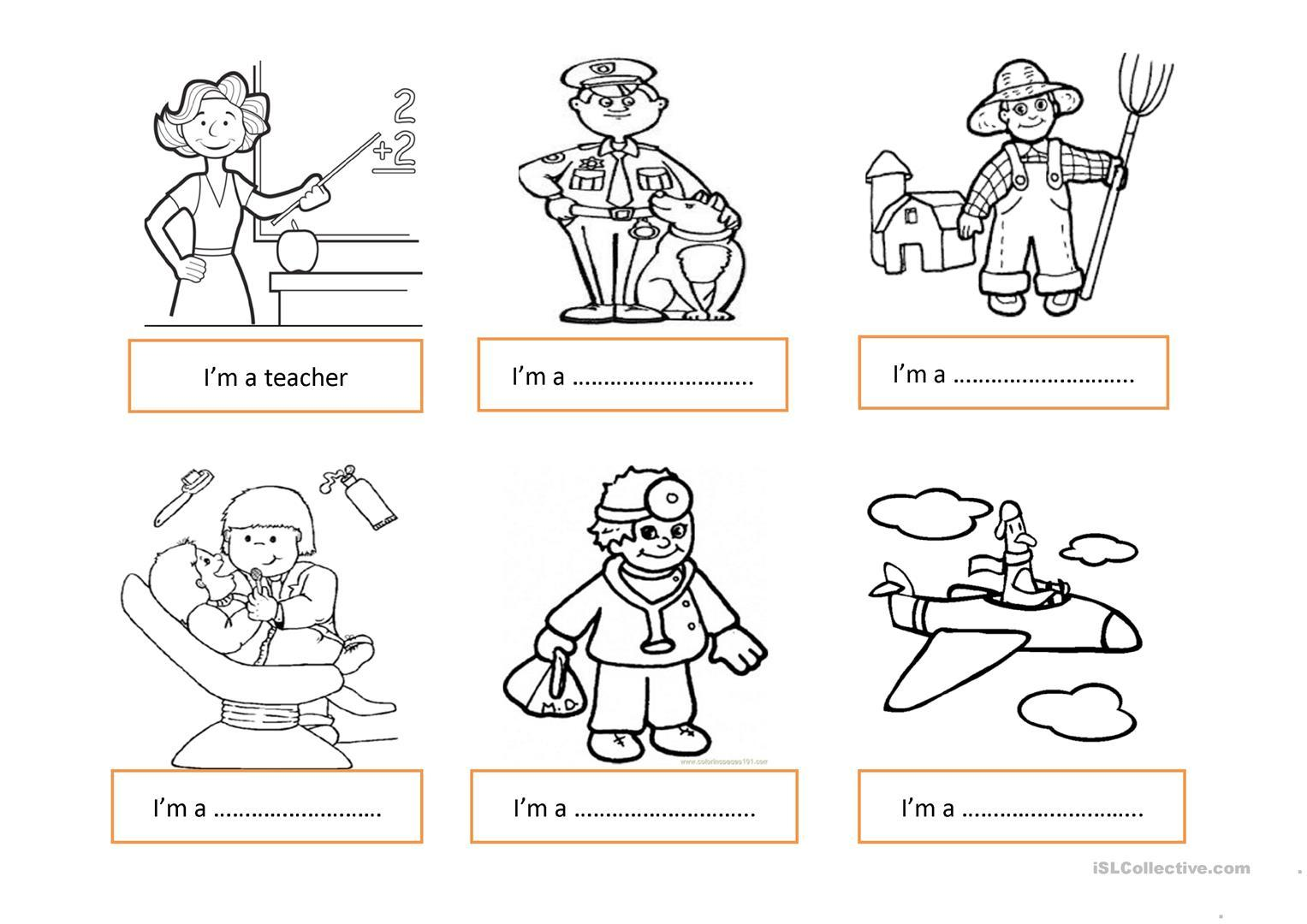 Jobs Worksheets For Preschool