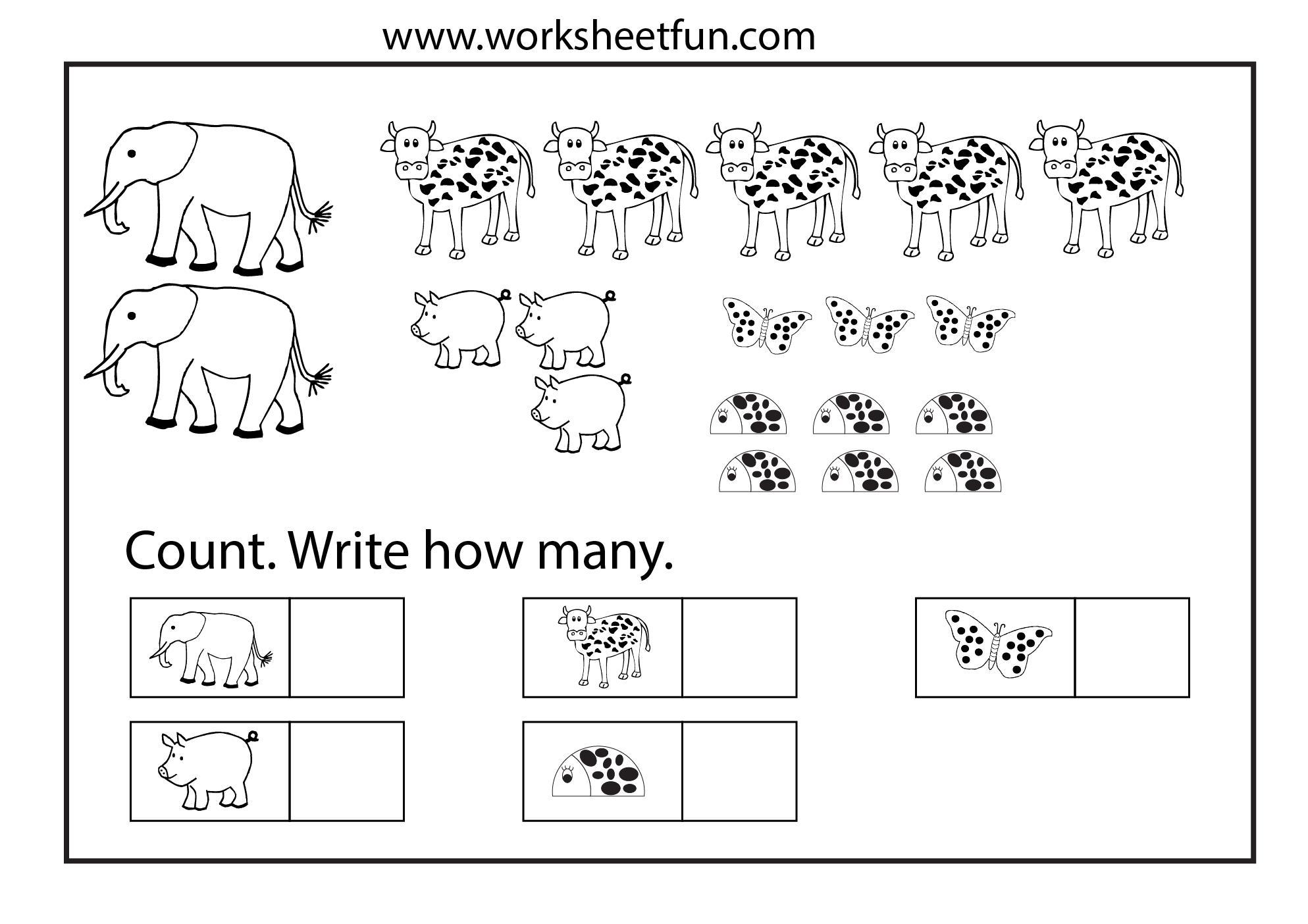 Preschool Christmas Counting Worksheets