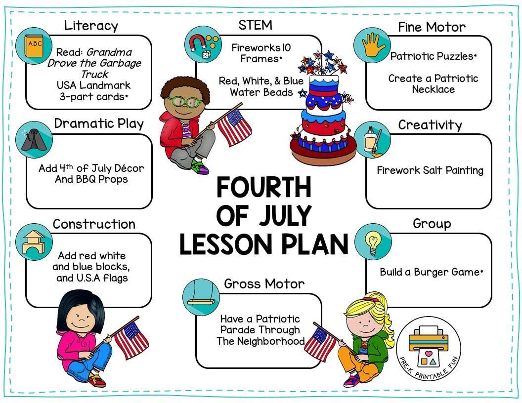 Preschool Fourth Of July Worksheets 7