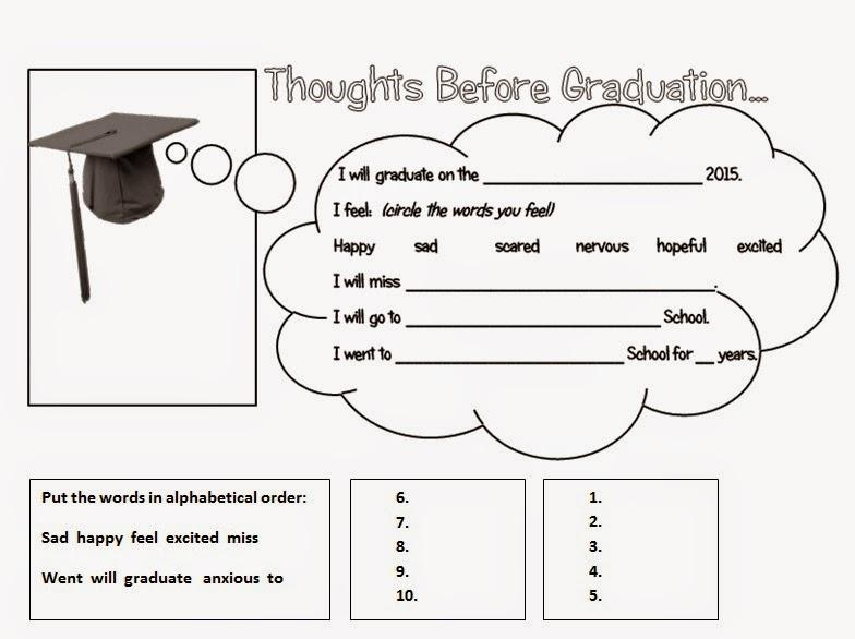Preschool Graduation Worksheets 1