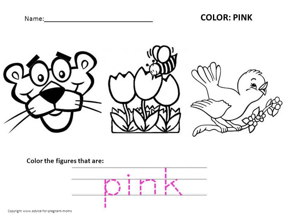 Preschool Learning Colors Worksheets