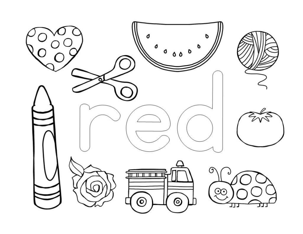 Preschool Worksheets Colouring 1