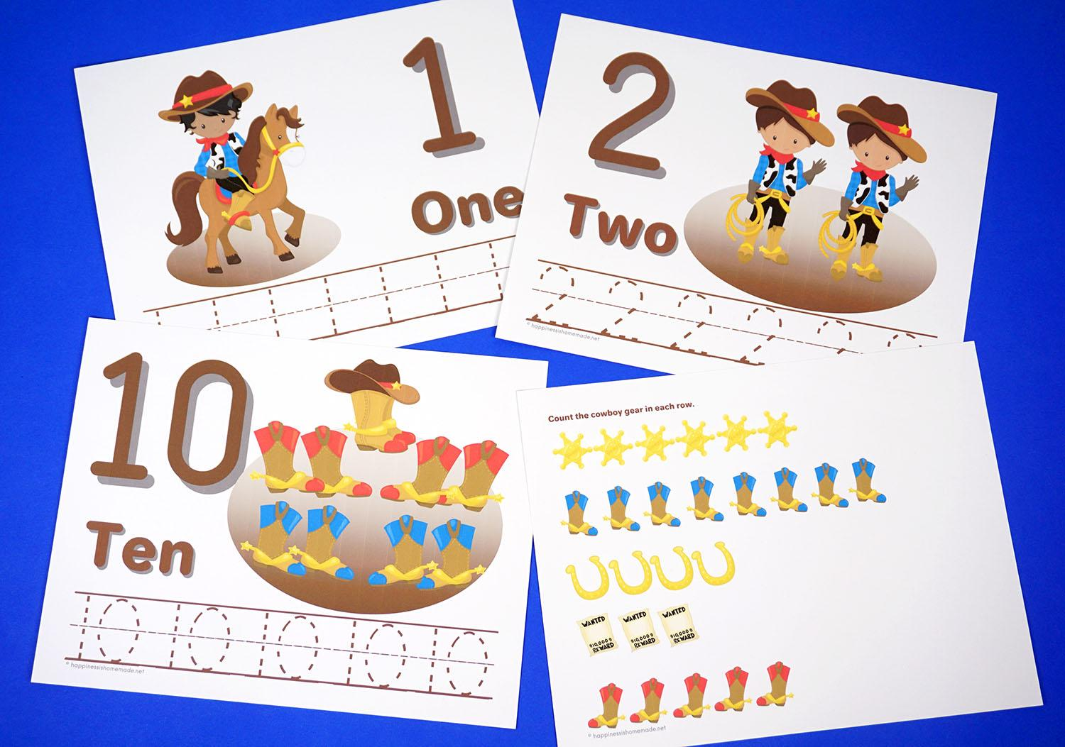 Preschool Worksheets Counting Objects