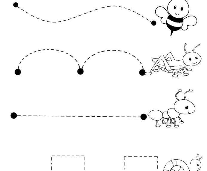 Preschool Worksheets Draw A Line 7
