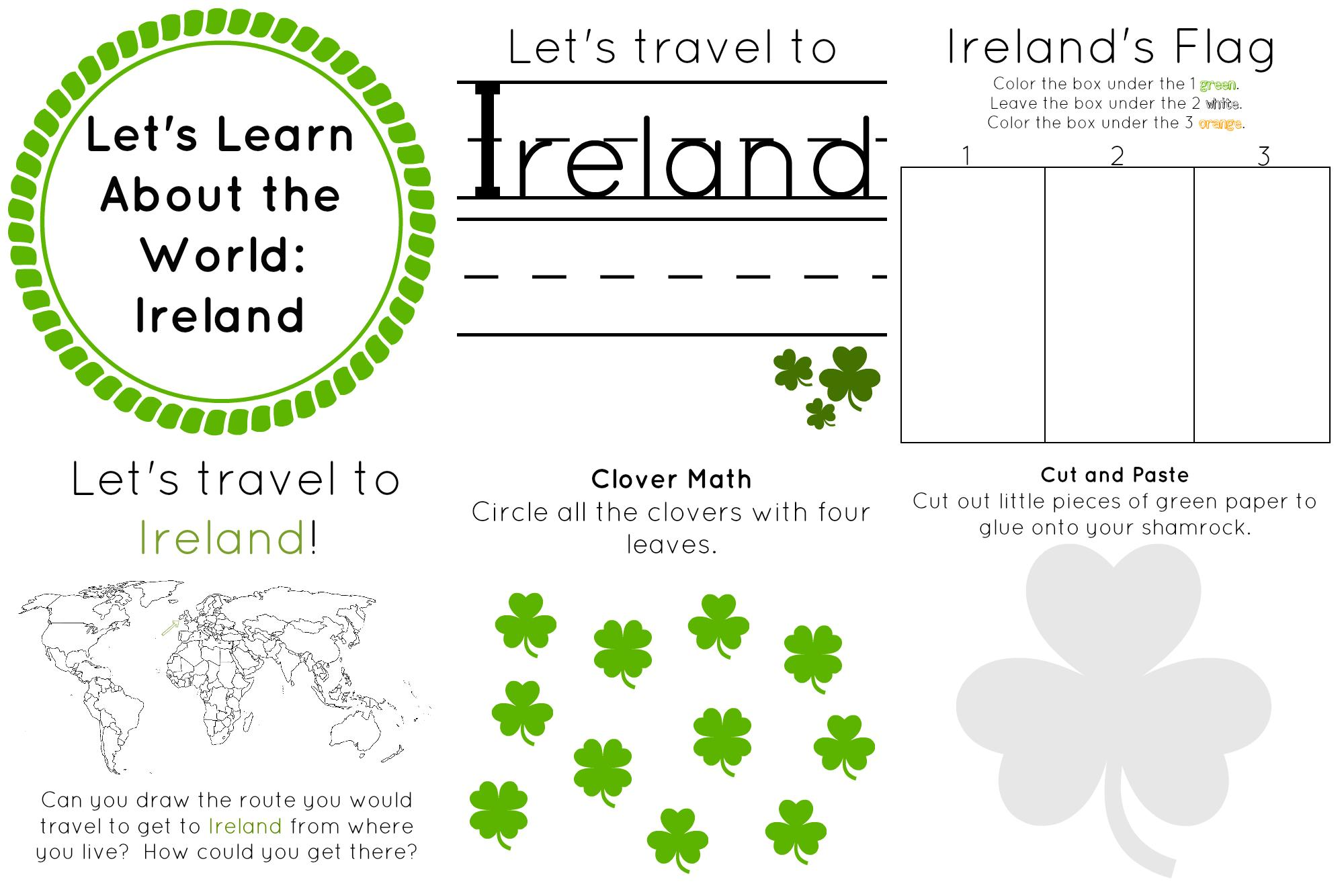 Preschool Worksheets Ireland 1