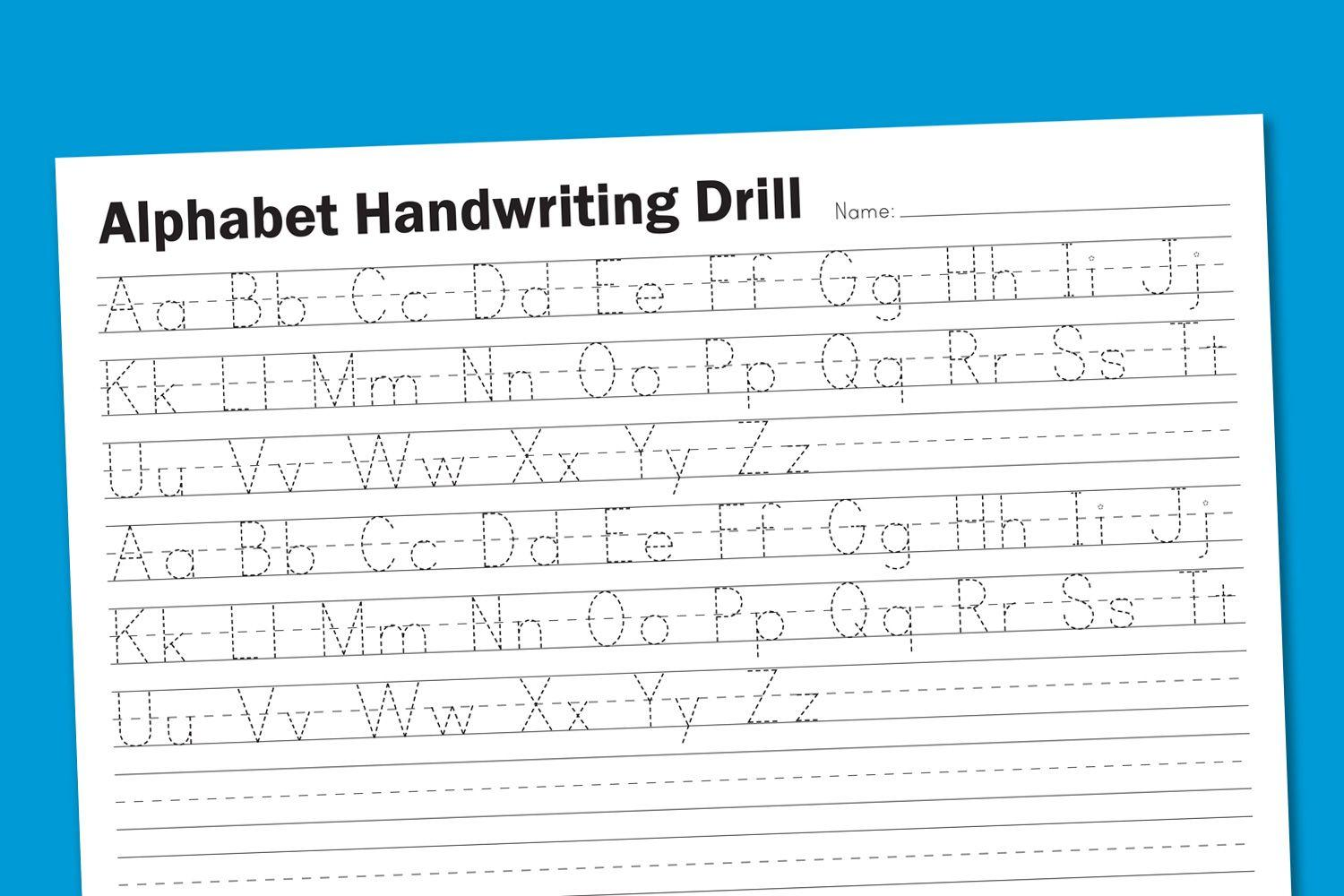 Printable Preschool Handwriting Worksheets