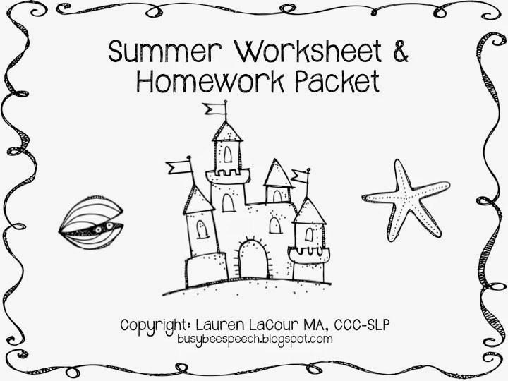 Free Printable Preschool Summer Worksheets
