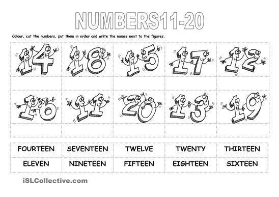 Numbers 1-20 Worksheets For Preschool