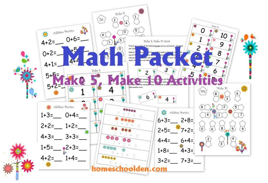 Preschool Free Printable Math Addition Worksheets For Kindergarten