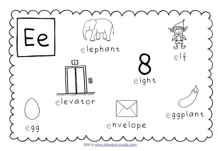 Preschool Letter E Tracing Worksheets