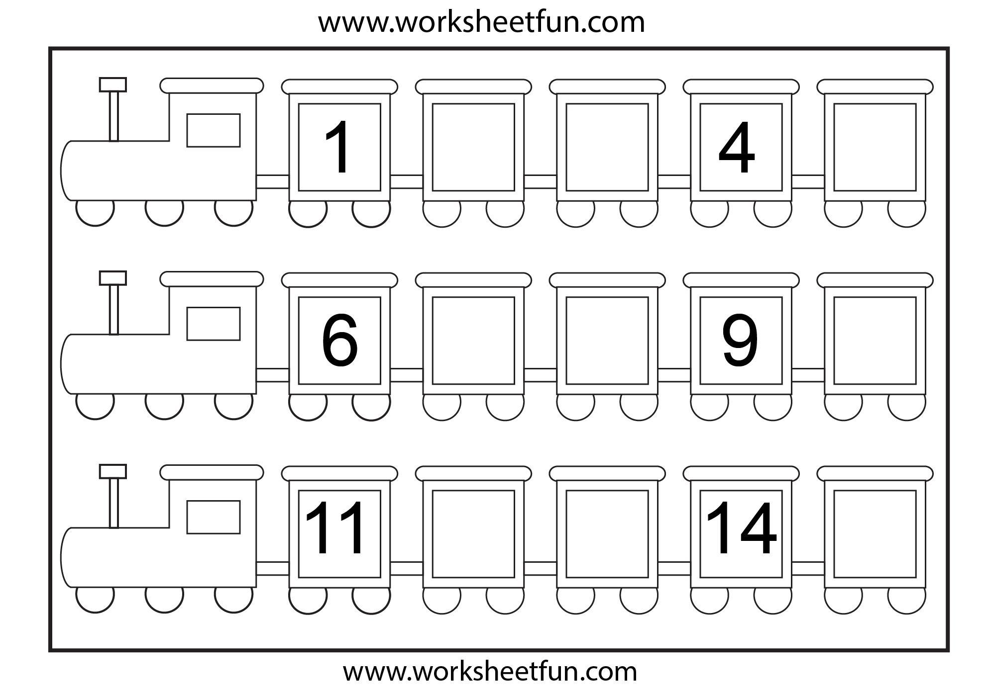 Preschool Worksheets Numbers 1-20 3