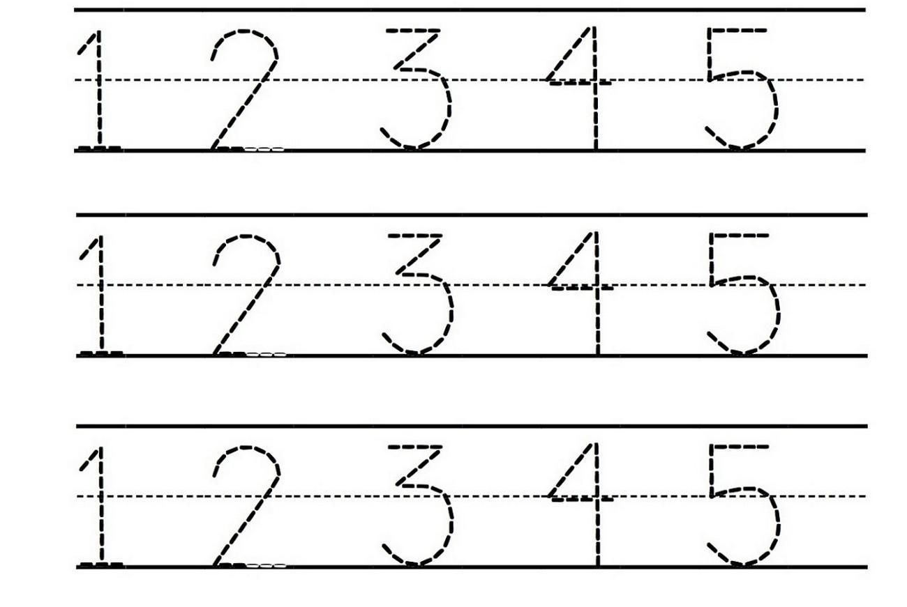 Preschool Worksheets Numbers 1-5 3