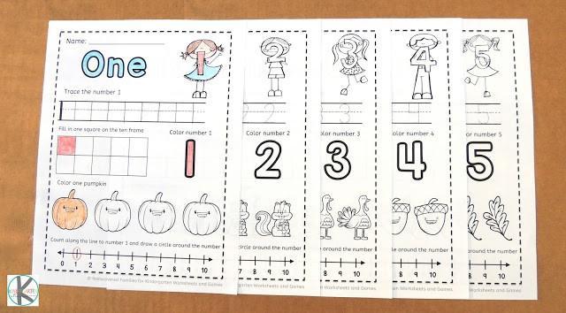 Preschool Worksheets Numbers 1-5 5