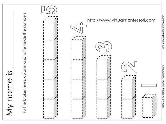 Preschool Worksheets Numbers 1-5 6