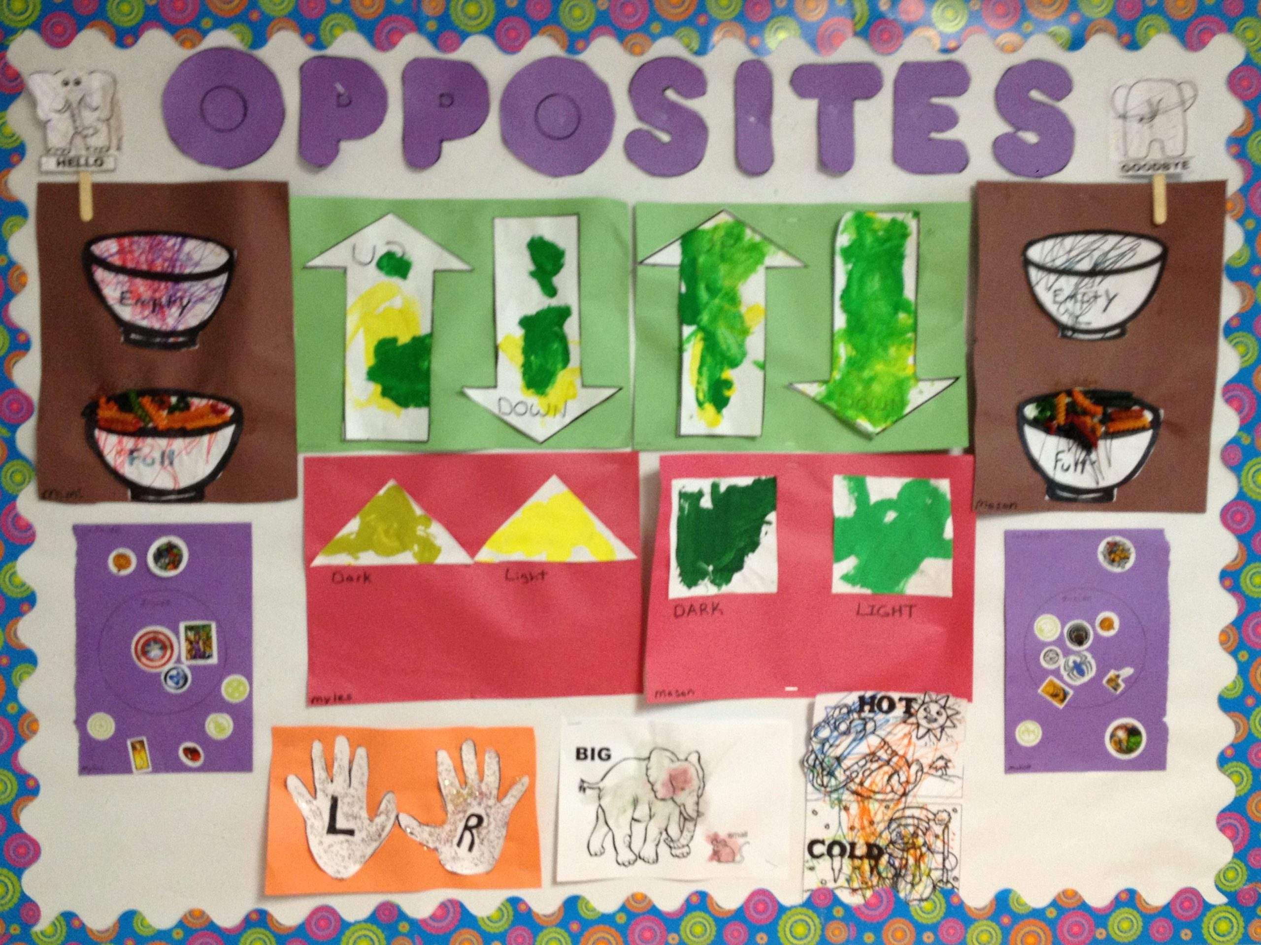 Preschool Worksheets On Opposites