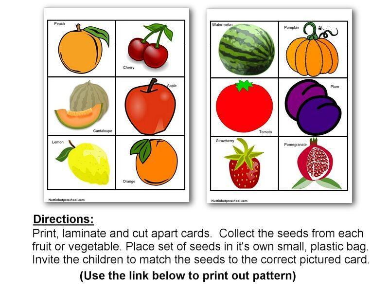 Worksheets On Fruits And Vegetables For Preschool