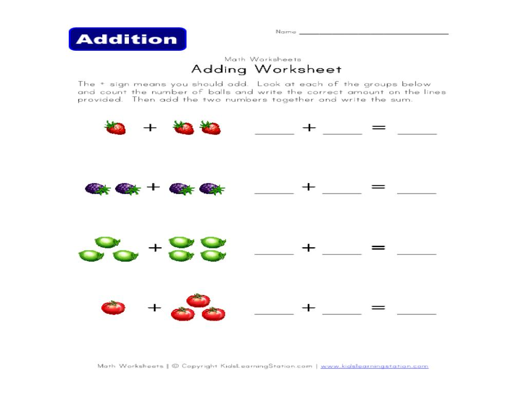 Math Worksheets Addition 3