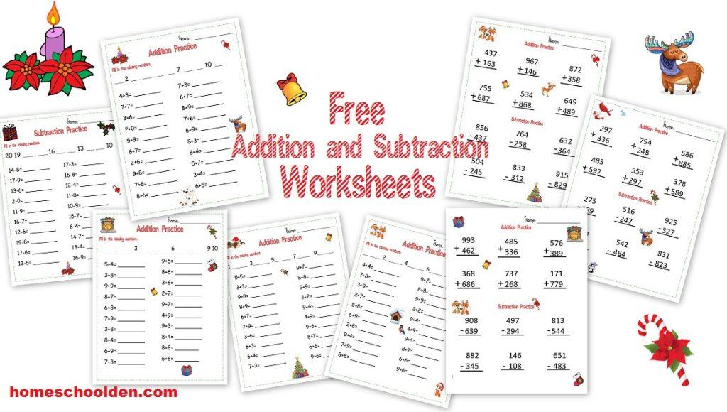 Math Worksheets Addition And Subtraction 8