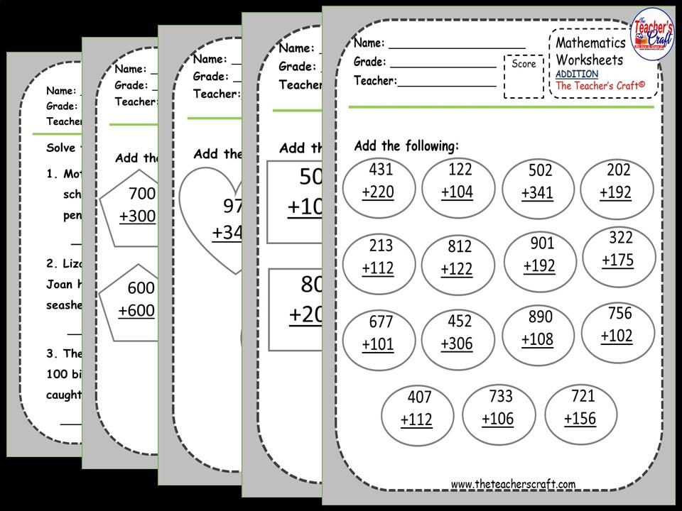 Math Worksheets Addition With Regrouping 3