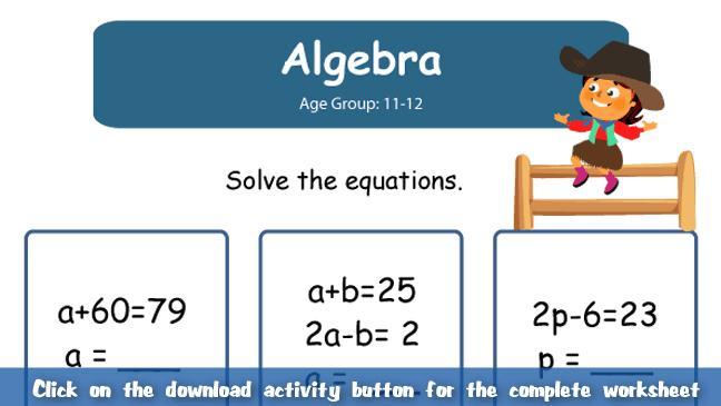 Math Worksheets Algebra 2 4