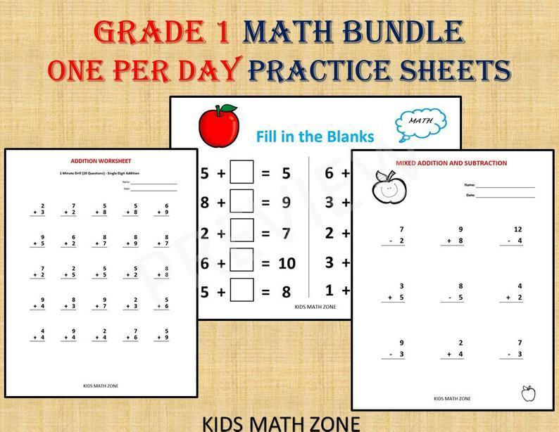 Math Worksheets Grade 1 4