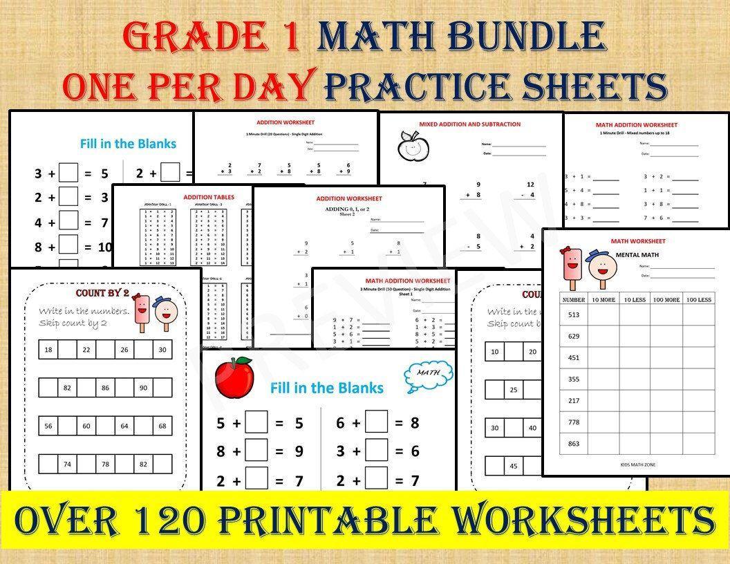 Math Worksheets Grade 1 8