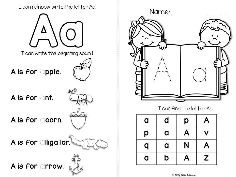 Preschool Alphabet Worksheets A-z 1
