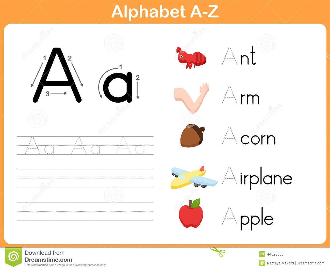 Preschool Alphabet Worksheets A-z 4