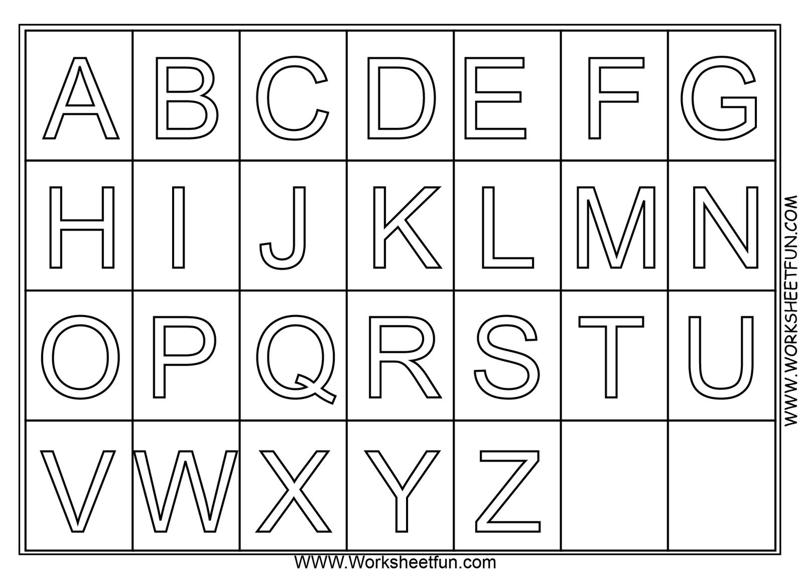 Preschool Alphabet Worksheets A-z 7