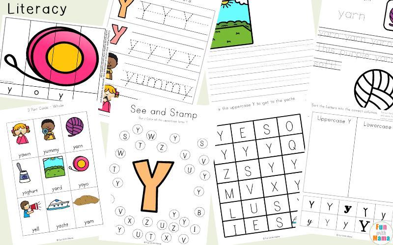 Preschool Letter Y Worksheets