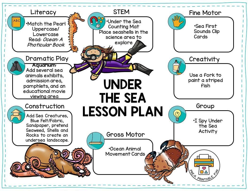 Preschool Under The Sea Worksheets