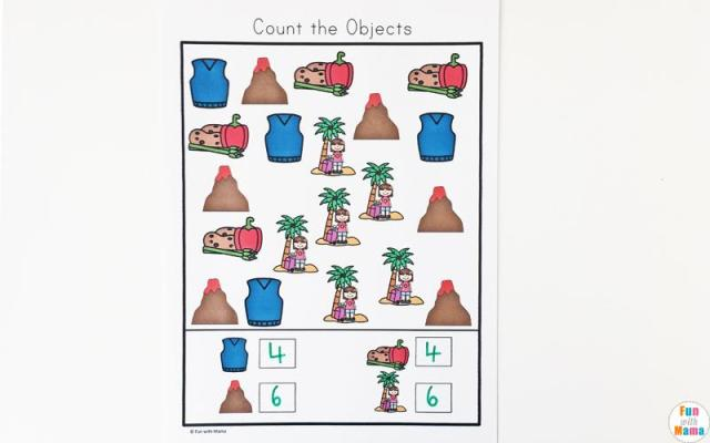 Preschool Volcano Worksheets