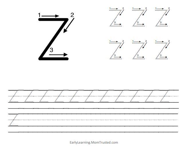 Preschool Worksheets Letter Z 7