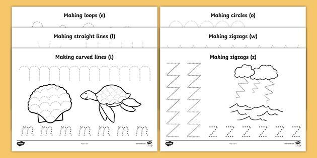 Preschool Worksheets Under The Sea 2