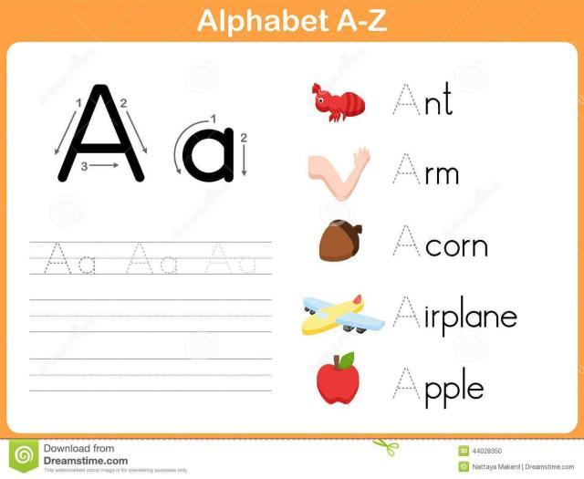 Preschool Writing Worksheets A-z For Beginners 11