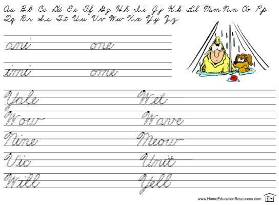 Preschool Writing Worksheets A-z For Beginners 12