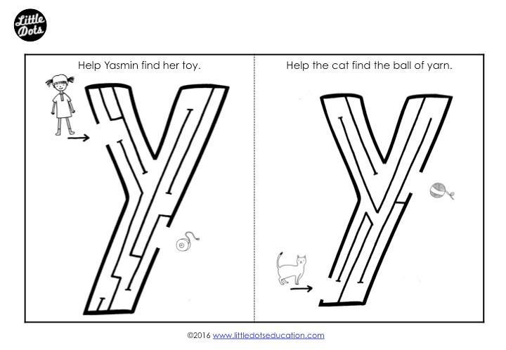 Preschool Y Worksheets 2